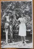 Foto , Gheorghe Dinu ( Stephan Roll ) cu Grazziela in Gradina Icoanei , 1939
