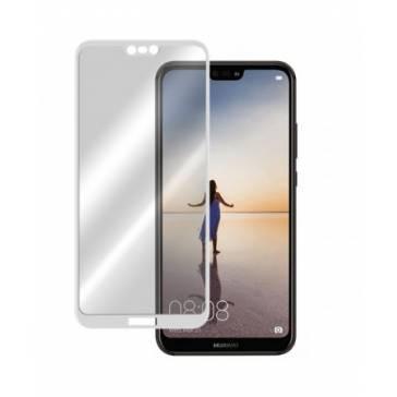 Geam protectie ecran complet Huawei P20 Lite Alb foto