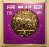 5.011 MAREA BRITANIE ANGLIA ELIZABETH II GOLDEN JUBILEE 5 FIVE POUNDS 2002
