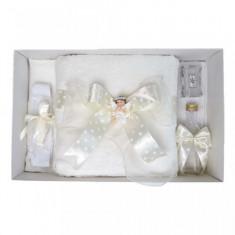 Trusou botez fundita ivoire cu buline, cu ingeras, Denikos® 31