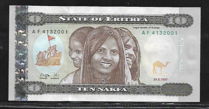 Eritrea  10  Nafka 1997 -UNC