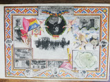 Carte postala litografie, Unirea tuturor romanilor, necirculata, rara