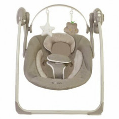 Leagan portabil BO Jungle pentru bebelusi cu arcada jucarii, Bej