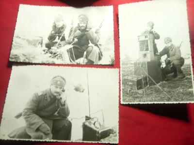 Set 4 Fotografii - Militari specialisti in telecomunicatii 1975 la Ciucei foto