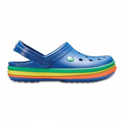 Saboți Adulti Unisex casual Crocs Crocband Rainbow Band Clog foto