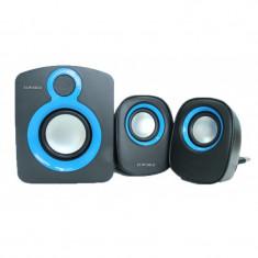 Sistem boxe audio 2.1 2x3w+5w