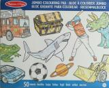 Caiet jumbo cu desene pentru colorat Melissa and Doug Albastru, Melissa & Doug