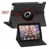 Cumpara ieftin Husa Flip Cu Stand iPad 3 Piele PU Si Rotatie 360 Grade Neagra, Apple