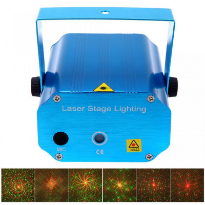 Proiector laser cu efecte de lumini,metal,interior foto