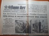 Romania libera 26 mai 1987-vizita lui gorbaciov in romania