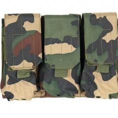 Portincarcator Triplu M4/AK Woodland [ACM]