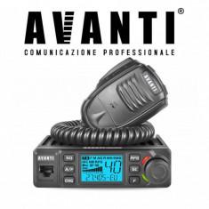 Statie Radio CB AVANTI Delta reglabila 4w -> 15W Autosquelch 12V – 24V Roger Beep
