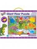 Giant Floor Puzzle: Dinozauri (30 piese), Galt