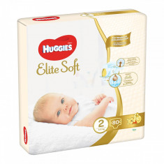 Scutece Huggies Elite Soft, Nr 2, 4 - 6 Kg, 80 buc