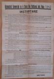 Afis vechi INSTIINTARE Falticeni jud. Baia 1937
