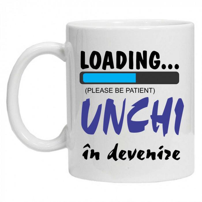"""Cana personalizata cu textul """"unchi in devenire"""""""