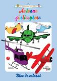 Avioane și elicoptere. Bloc de colorat