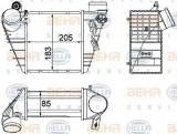 Radiator intercooler VW BORA Combi (1J6) (1999 - 2005) HELLA 8ML 376 700-704