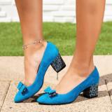 Pantofi Piele dama turcoaz Rolivia