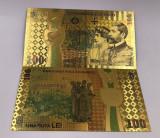 Romania- Bancnota 100 LEI 2018 -  Bancnota placata cu aur - COLOR