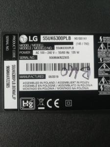 Bareta LED LG 55UK6300 LGIT.55UK63.REV00.170615 55UK63 HC550DGG-SLUL1-A14X
