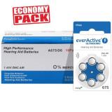 Baterii EverActive 675 pentru aparate auditive Economy Pack 60 baterii