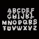 Piercing pentru limbă din oţel - o literă cu zirconiu - Literă: H