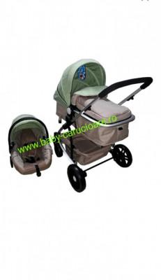 Cărucior nou născut 3 in 1 Baby Care YK 18-19 Verde fistic foto