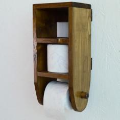 Suport din lemn pentru hartie igienica