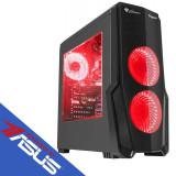 Sistem desktop Rogue 9 Powered by ASUS AMD Ryzen 7 2700 Octa Core 3.2 GHz 16GB RAM DDR4 AMD Radeon RX 580 Dual OC 4GB DDR5 256bit SSD 240GB M.2 + HDD