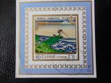 Bloc timbre pictura japoneza stampilat Ajman timbre arta picturi Cercetasi