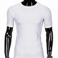 Tricou barbati, bumbac - S970-alb