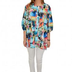 Bluza dama, casual, model vintage, multicolor