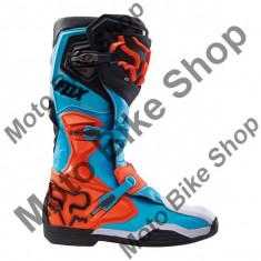 MBS Cizme motocross Fox Comp 8 RS, negru/albastru deschis/portocaliu, marimea 43.5, Cod Produs: 1645104510AU