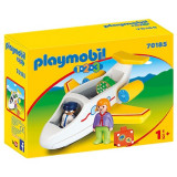 Set figurine Playmobil, 1.2.3 Avion cu pasager