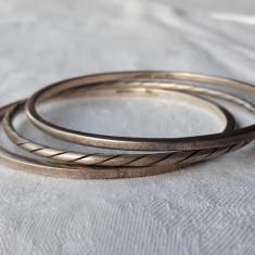 BRATARI argint MEXIC vechi SET 3 bucati MASIVE vintage SPLENDIDE de efect