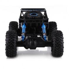 Masina de jucarie Rock Through, cu telecomanda, 4X4, albastru