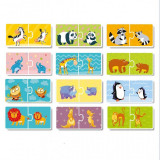 Duo Puzzle Mama si puiul Dodo, 24 piese, 12 puzzle, 3 ani+