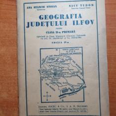 manual - geografia judetului ilfov pentru clasa a 2-a primara din anul 1945