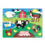 Puzzle Din Lemn Ferma Animalelor, Melissa & Doug
