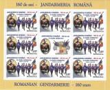România, LP 1860c/2010, Jandarmeria Română-160 de ani, minicoală, MNH, Nestampilat