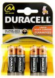 Set Baterii Duracell 4 bucati AA Basic LR6