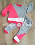 Trening 3 culori bumbac bebelusi – gri, corai, alb