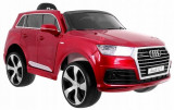 Masinuta electrica Audi Q7 cu scaun de piele si roti din cauciuc Red