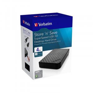 Hard disk extern Verbatim Store n Save 4TB 3.5 inch USB 3.0 Black