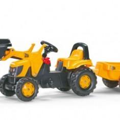 Tractor Cu Pedale Si Remorca Copii ROLLY TOYS Galben 2-6 ani