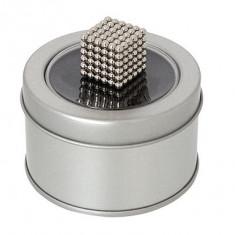 Joc Puzzle Antistres NeoCube cu 216 Bile Magnetice, Diametrul de 3mm