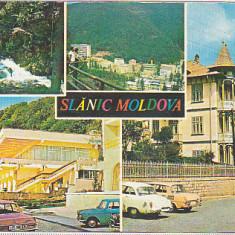 bnk cp Slanic Moldova - Vedere - circulata - marca fixa