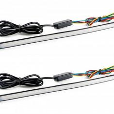 Lumini de zi DRL cu functie de semnalizare dinamica 29 cm. COD: BO01A FLOW ManiaCars