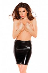 Fusta Neagra Latex Kitten Sexy Skin Black